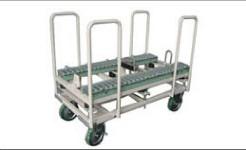 振動を嫌うプリント基板をやさしく運搬する台車