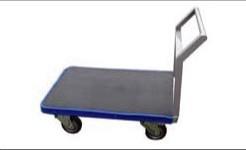 スプリングで振動を吸収して運搬できる台車