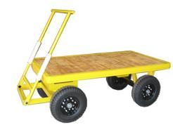 芸術品を運搬する重荷重対応の台車